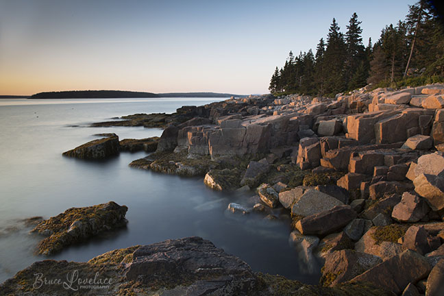 Acadia Sunset Photo - Tripod and ND Filter