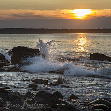 Acadia Maine waves