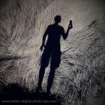creative selfie portrait