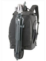 Hanging pouch backpack tripod holder