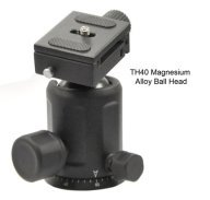 This Opteka ball head is very light and gives you the ability to pan, tilt or rotate in any of these planes all at once.
