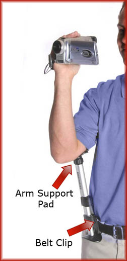 Use the Armpod monopod to support a video camera