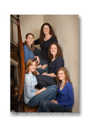 Use Steps as an Idea for Family Portrait Posing