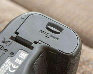 DSLR camera battery door