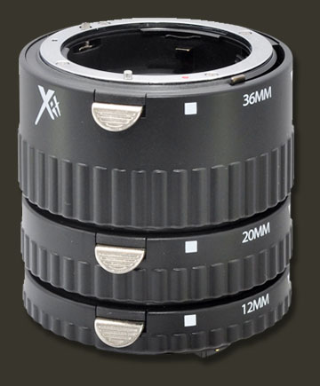 Stackable macro extension tube lenses