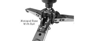 Here is the ultimate. A Fluid Ball-Head Base With Three Sturdy Legs