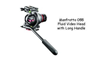 Manfrotto-055 Video Monopod With a Fluid Head Attached