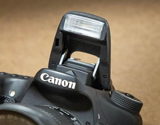 DSLR pop-up flash