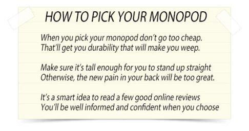 how to pick your monopod