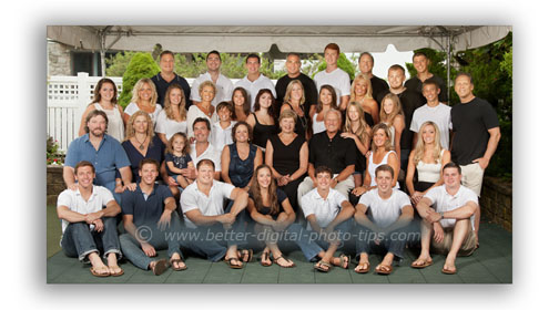 Very large Family Group Pose