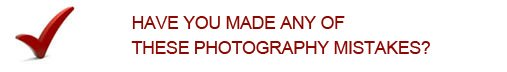 Photography Mistakes Question Mark