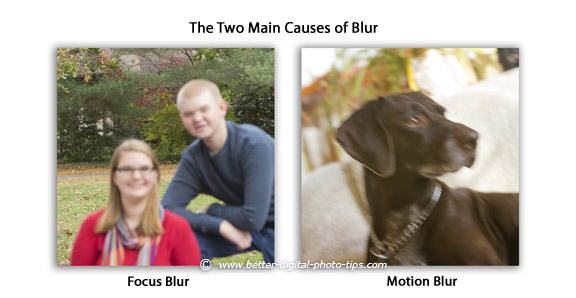 Two main causes of blurry digital photos