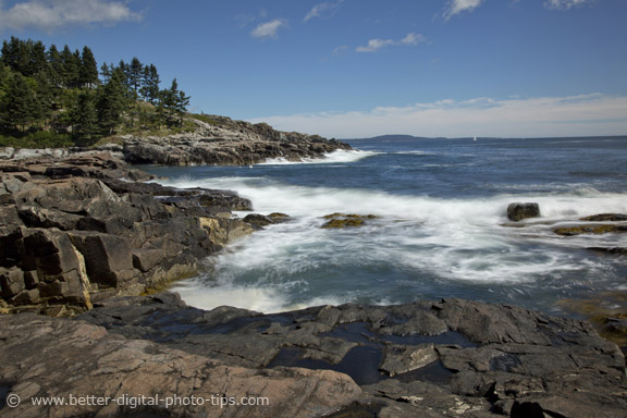 Photo of Acadia National Park - Rock and Waves - for travel photography book review article
