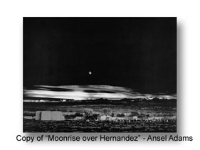 Copy of Ansel Adam's Moon Rise Over Hernandez