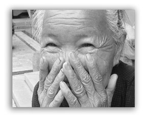 Black and white photography - Portrait of a senior citizen-5