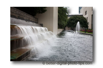 Charlotte NC photo of convention center water fountain