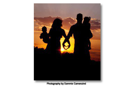 Creative Family Portrait at Sunset by Sammy Carmenzind