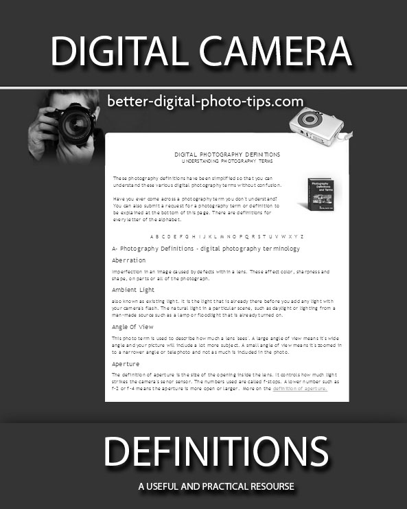 Dictionary of Digital Photography Definitions