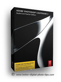 Photo of box containing Adobe Photoshop Lightroom editing software