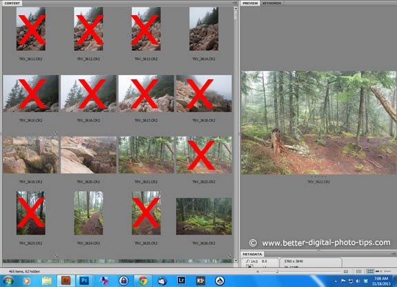 Your first edit should be to only select or use the good photos.