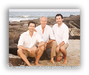 Basic Family Portrait Pose of 3 Men