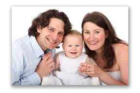 Family portrait tip for pose of 3 people