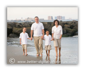 Start by deciding what kind of feel you want the family portrait to convey