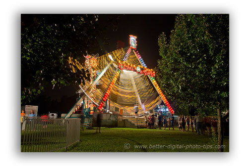 Good composition from the night time carnival photography shoot