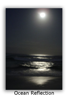 How To Photograph the Moon - Use the Ocean to Reflect
