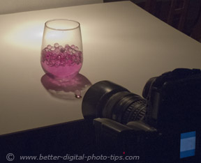 Use of a spotlight as the lighting for this macro photograph