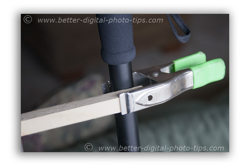 First stability tip-create a secondary stability point by using a clamp and stabilizer bar.