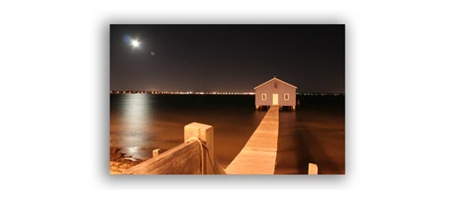 Moonlight Photo of Perth Boat Launch