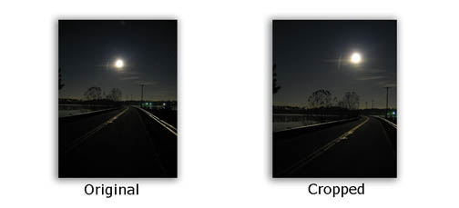 Moonlight Photos- Crop Using the Rule of Thirds