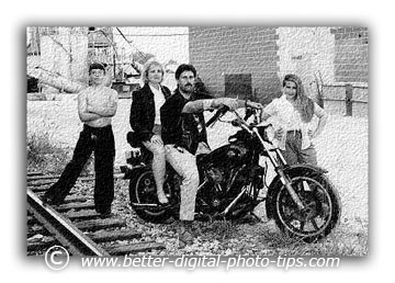 Motorcycle Family Pose