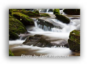 Slow shutter speed used in nature photography of water can be used to get desirable motion blur