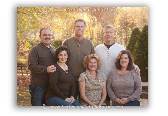 Outdorr Family Portrait of Adults Only
