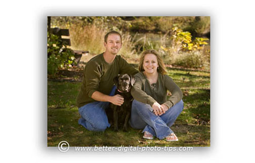 Outdoor portrait photography of a couple