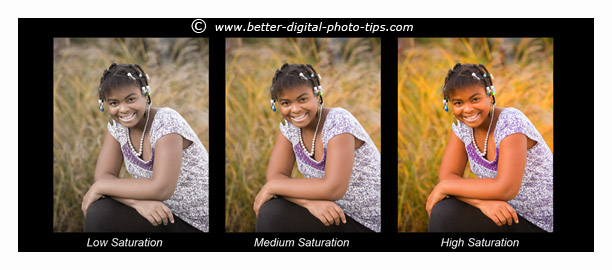Quickly adjust saturation and color balance as part of your routine.