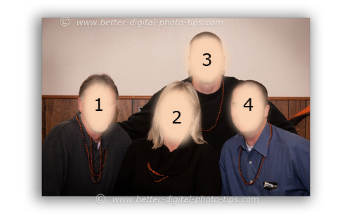 Photography pose of 4 adults