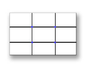 Photography Rule of Thirds Diagram - Horizontal