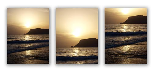 Using The Rule of Thirds in Photography of a Sunset and Rocks