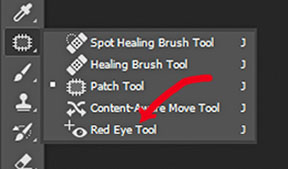 Photoshop red eye tool