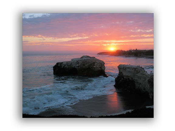 Sunset and Rocks - Picture of natural environment