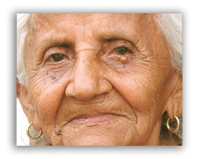 Smiling elderly woman photo
