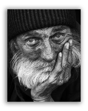 Pictures of the Elderly in Black and White