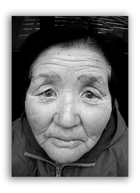 Black and White Photo of a Senior Citizen