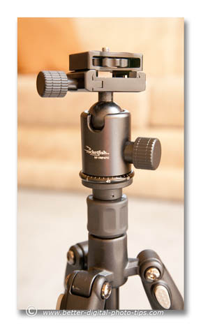 The Rocketfish tripod RF-TRP-47c is small, lightweight and easy to use