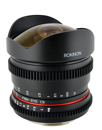 Rokinon super-wide angle fisheye lens