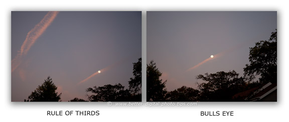 Rule of thirds examle-photograph of moon
