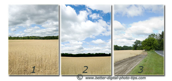 Rule of Thirds Comparison of Three Photos